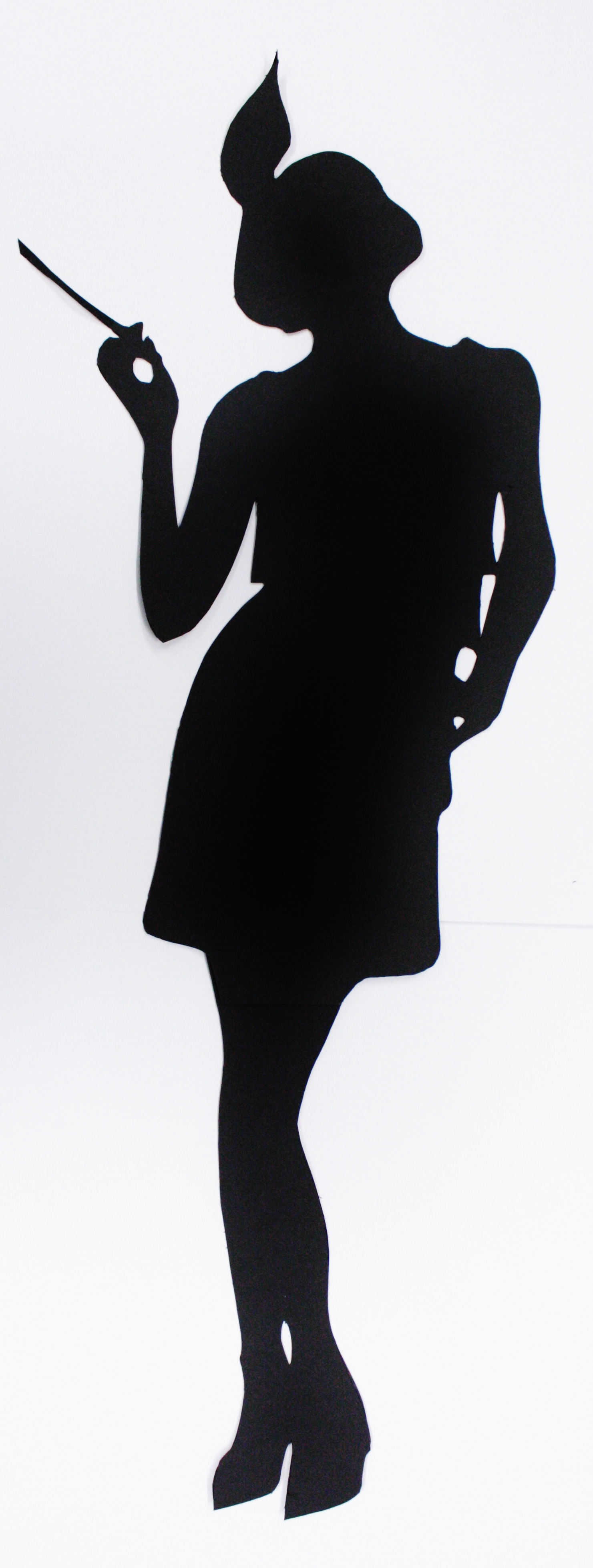 Flapper silhouette for pinterest
